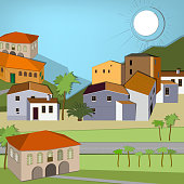 Italy town landscape