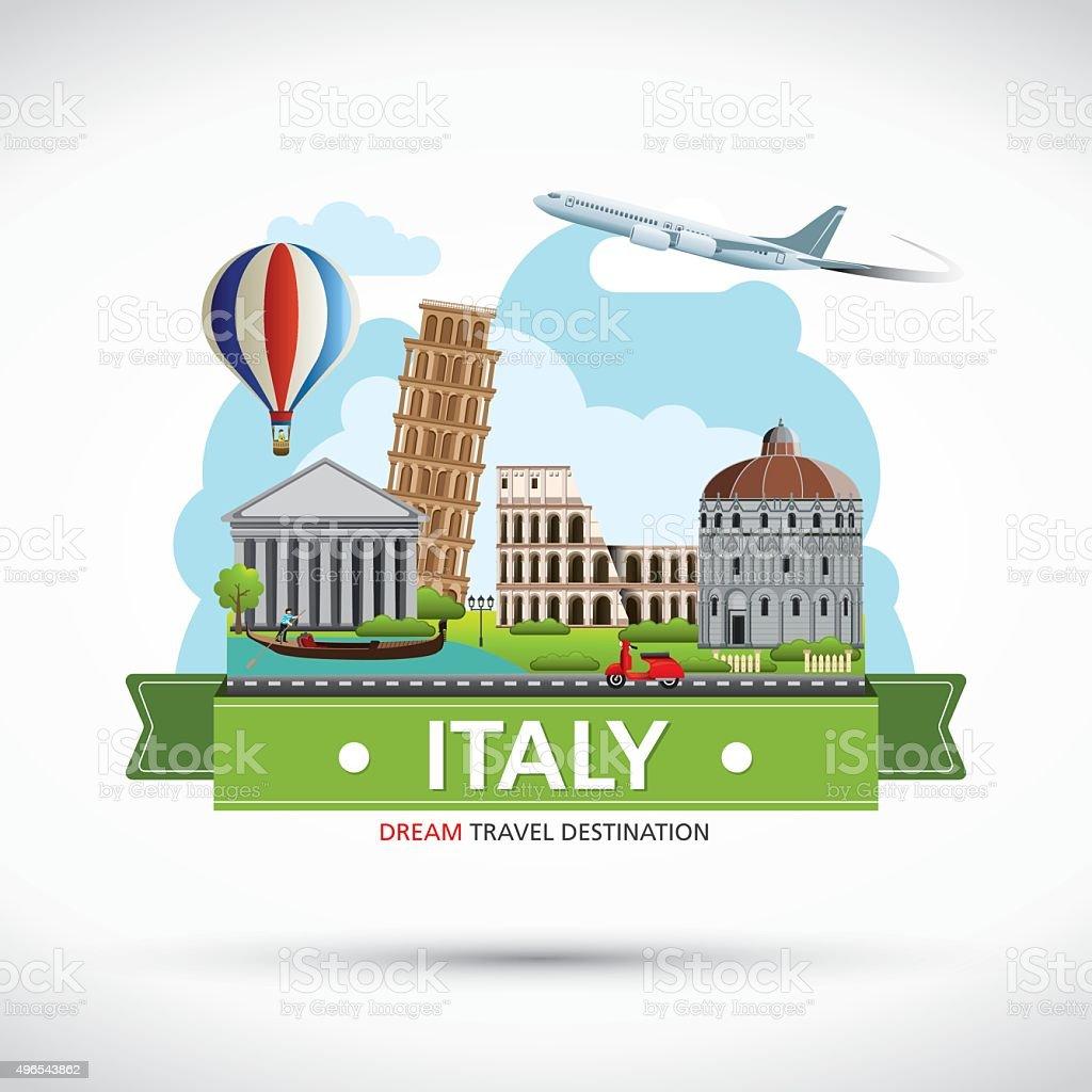 Italy Travel destination concept, Travel design templates collection. vector art illustration