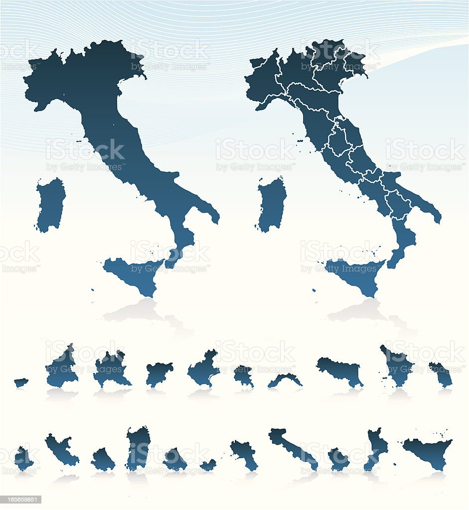 Italy vector art illustration