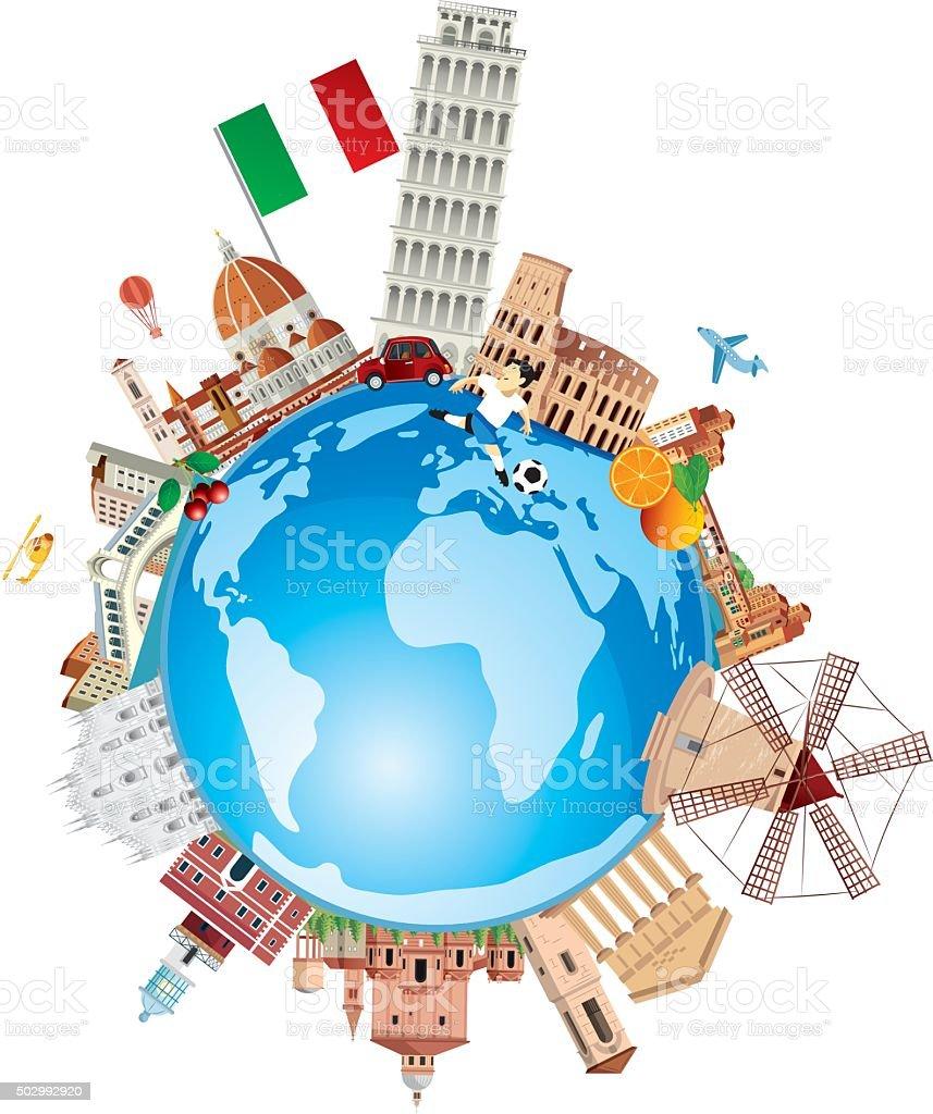 ItalyTravel vector art illustration