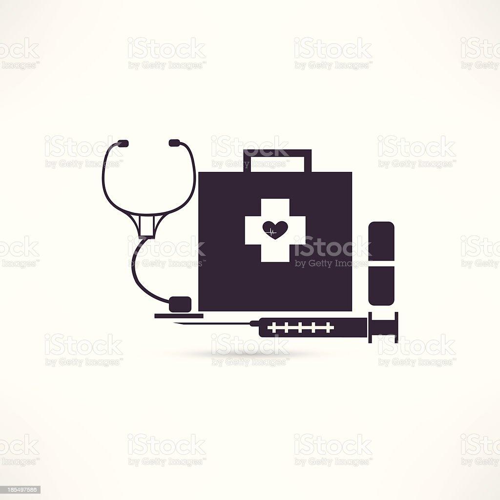 items medicine icon royalty-free stock vector art
