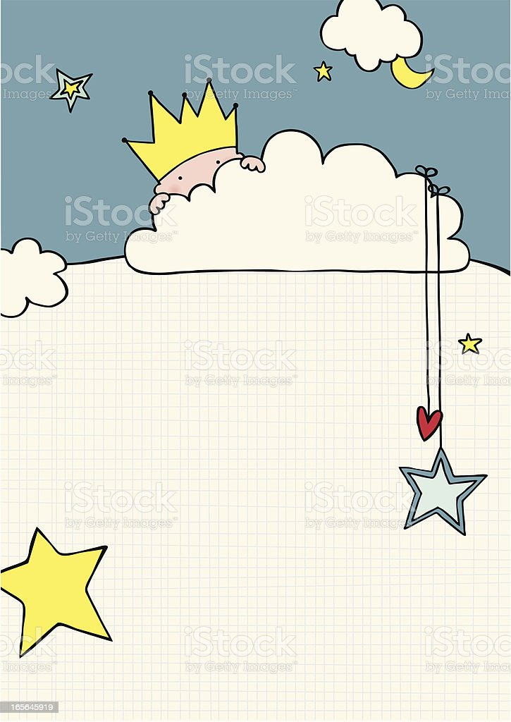 It's a boy - Baby arrival announcement card royalty-free stock vector art