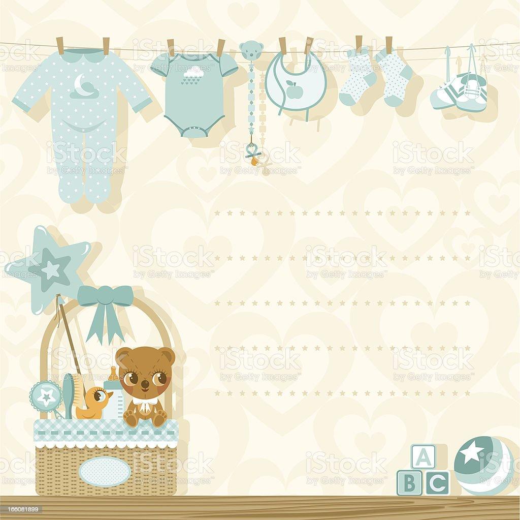 It?s a boy baby shower invitation vector art illustration