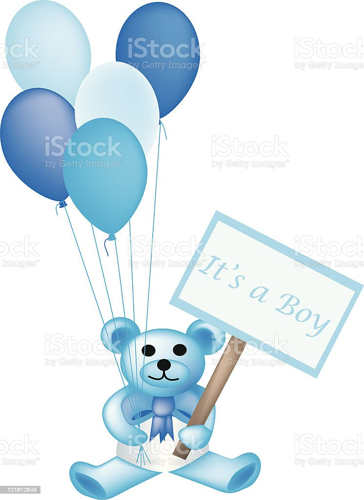 It's A Boy Teddy royalty-free stock vector art