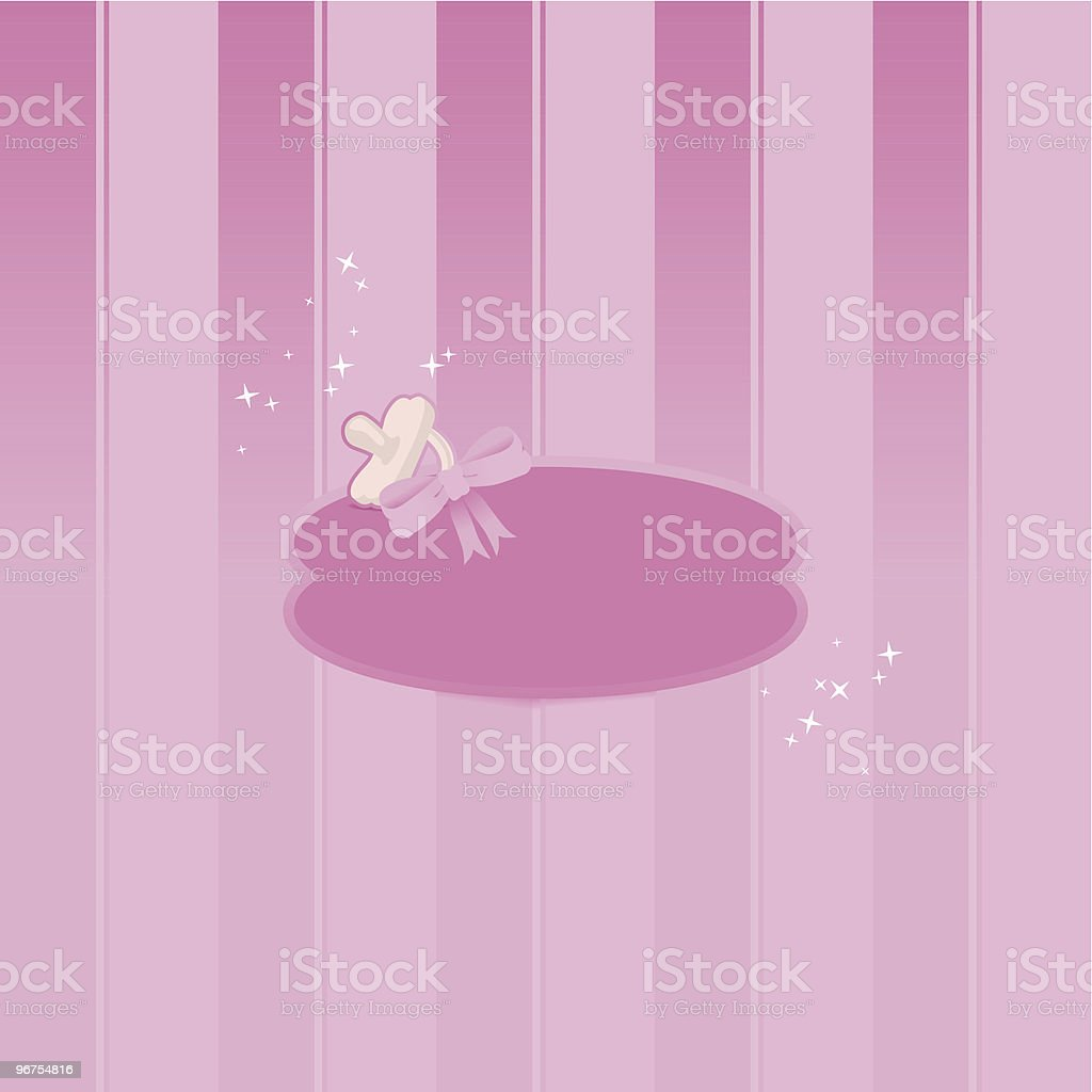 It's a girl - greeting card royalty-free stock vector art