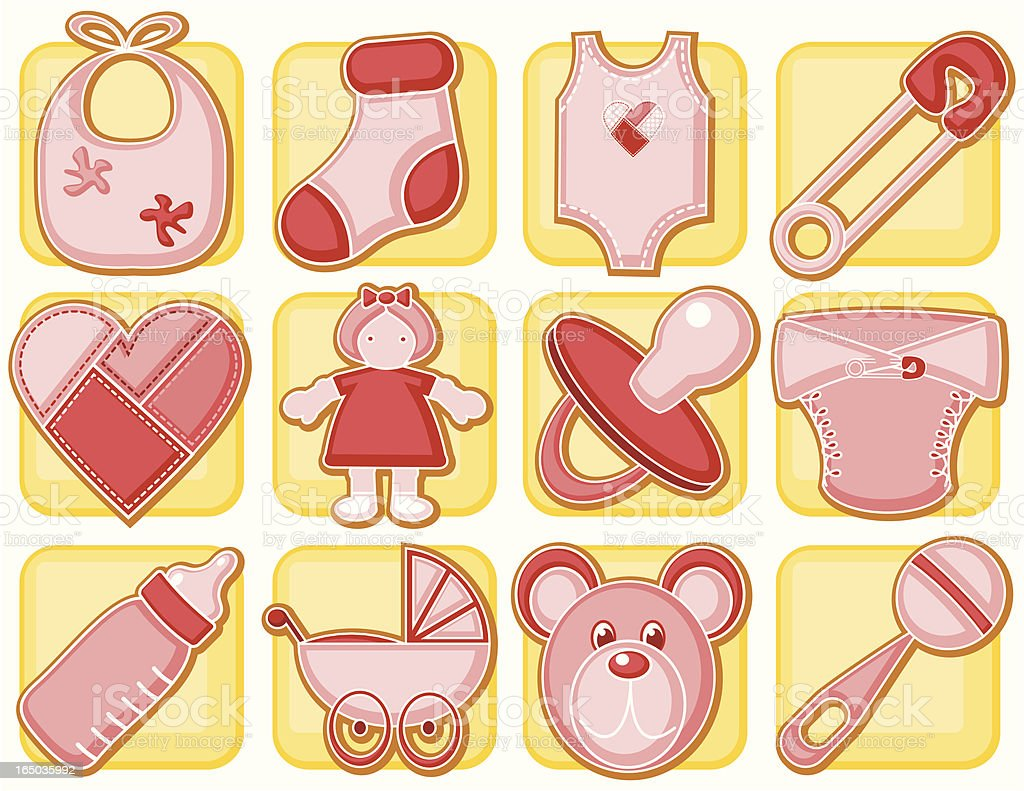 It's a girl! royalty-free stock vector art