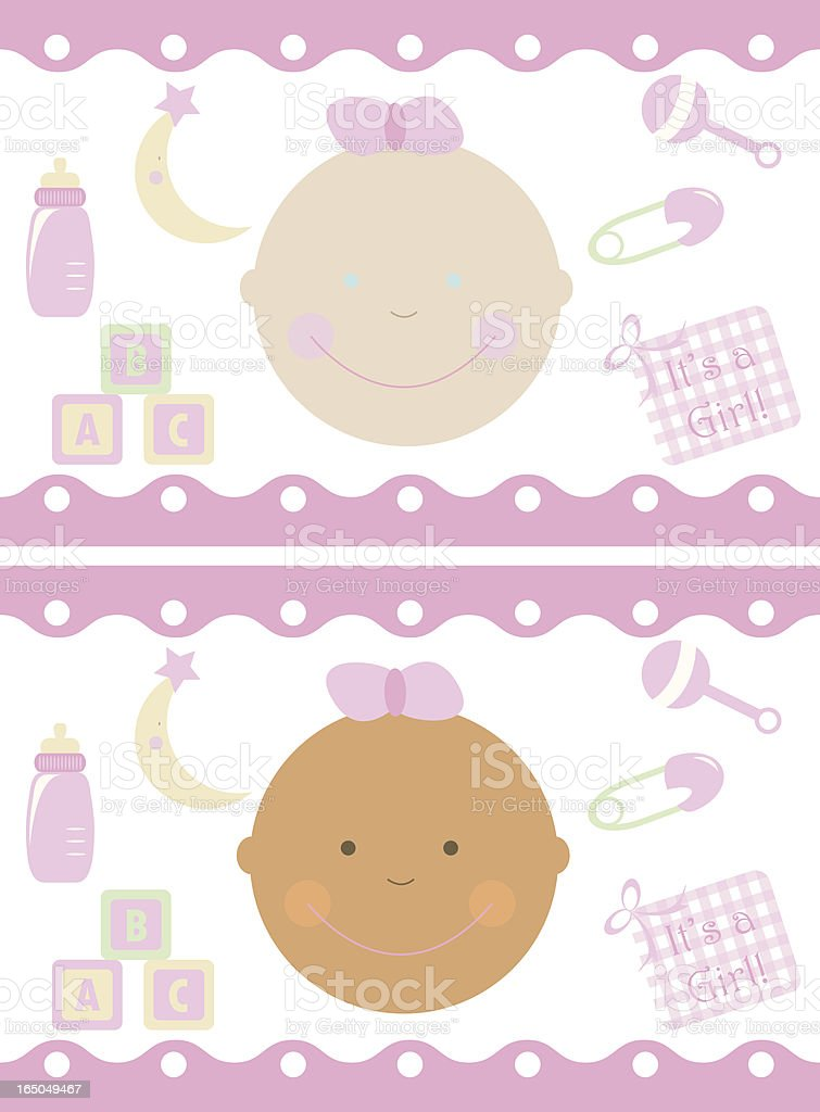 It's a Girl royalty-free stock vector art