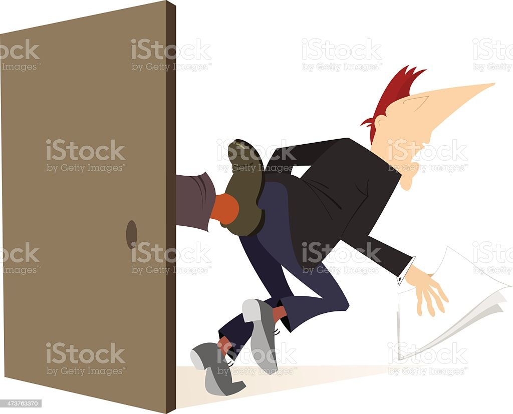It's hard to be a businessman, a politician or a clerk vector art illustration