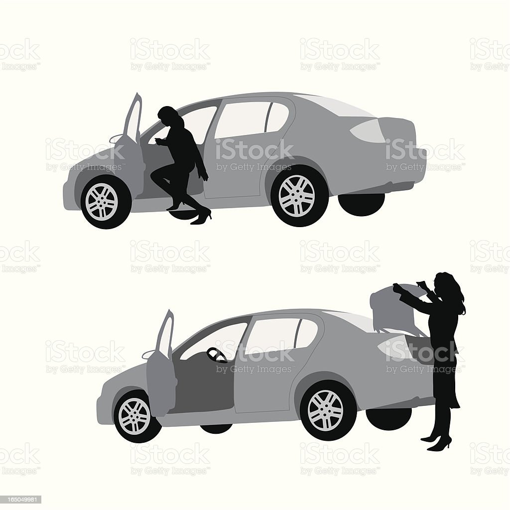 It's In TheTrunk Vector Silhouette royalty-free stock vector art