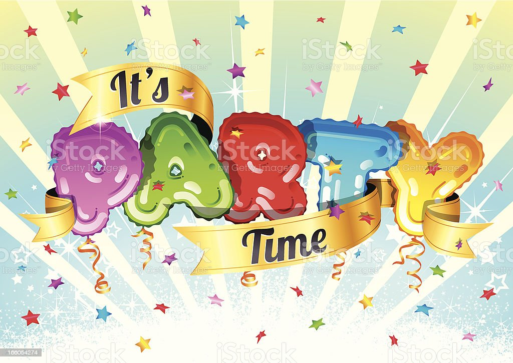 It's Party Time vector art illustration