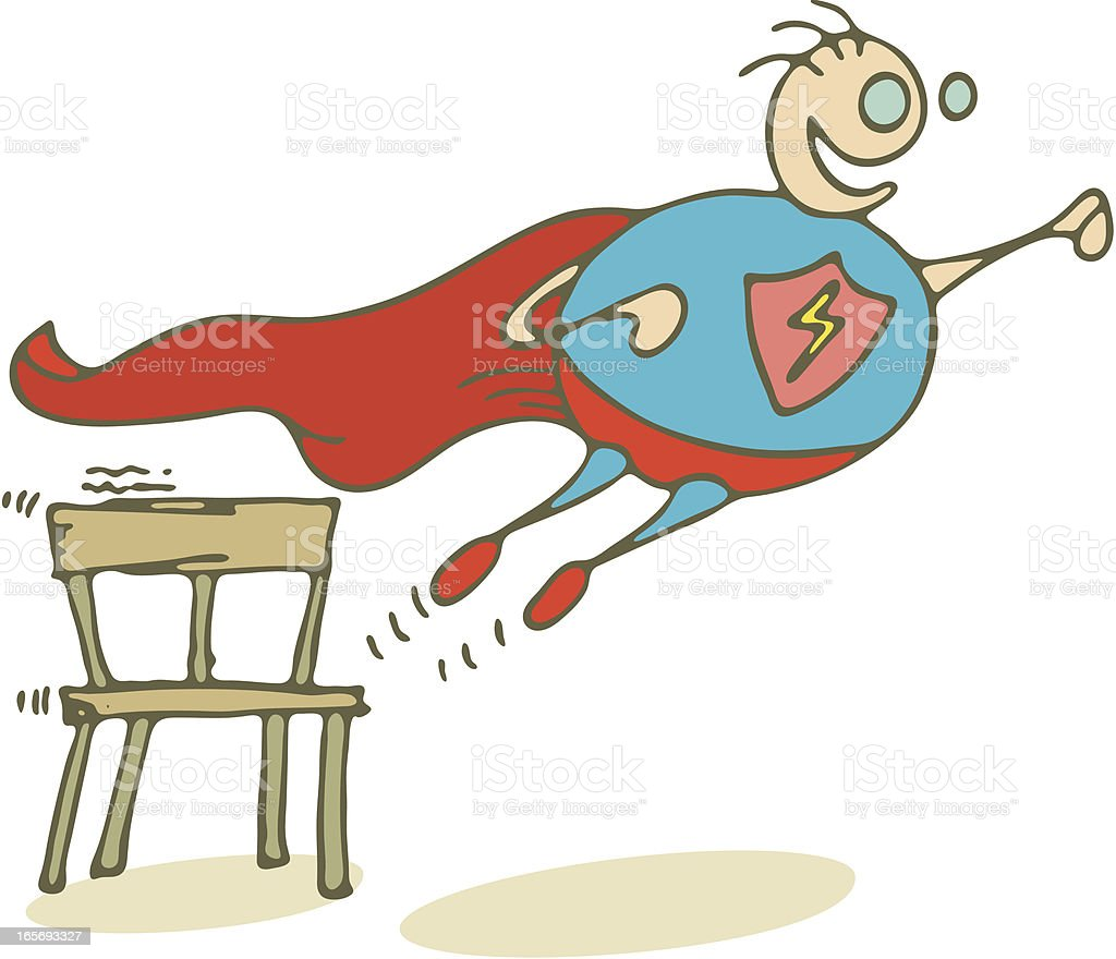 It's Superboy! royalty-free stock vector art