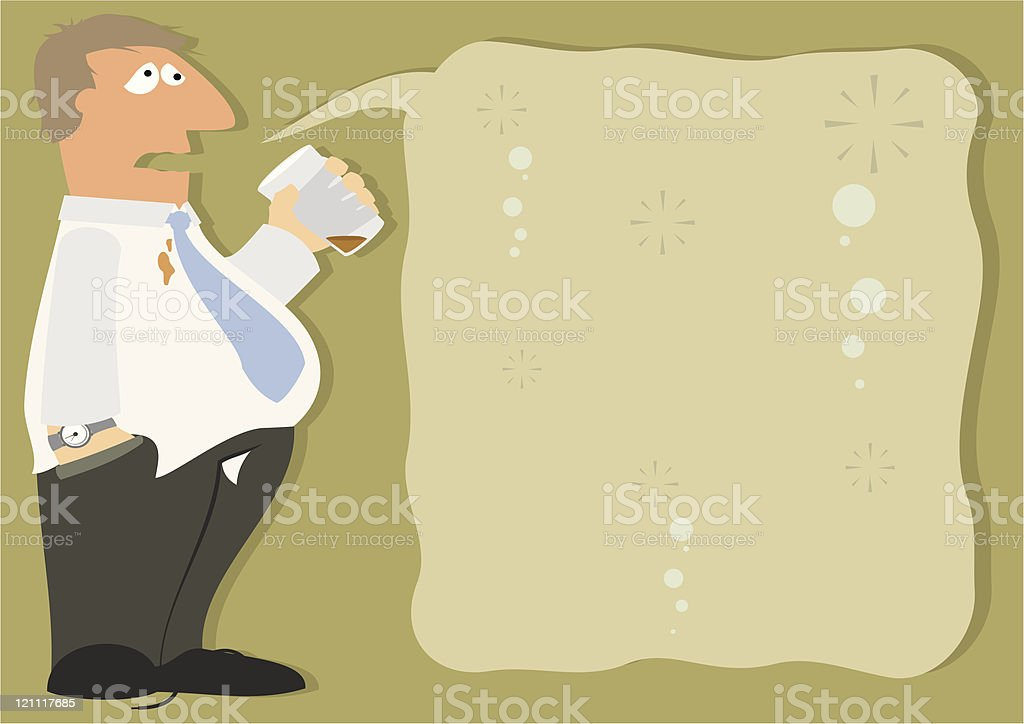 Its The Beer Talking royalty-free stock vector art