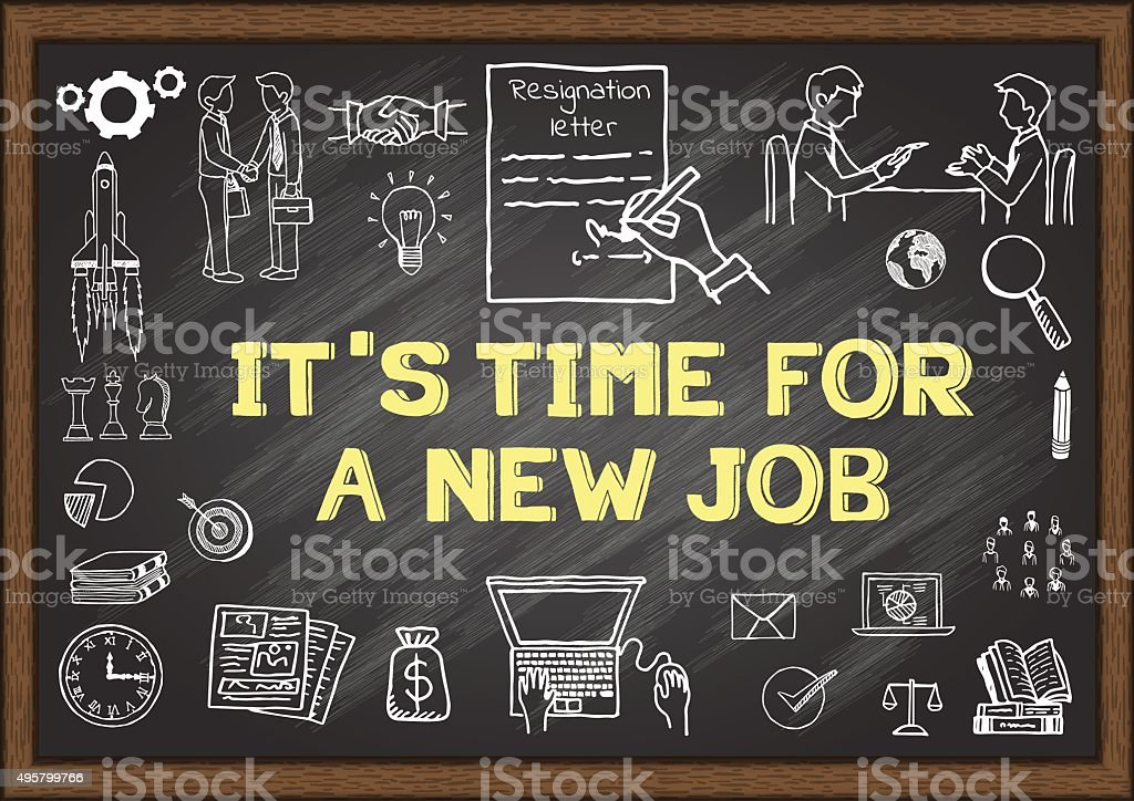 It's time for new job vector art illustration