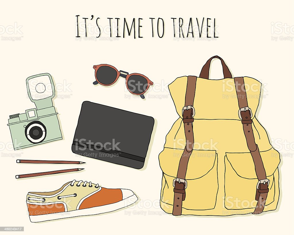 It's time to travel! royalty-free stock vector art