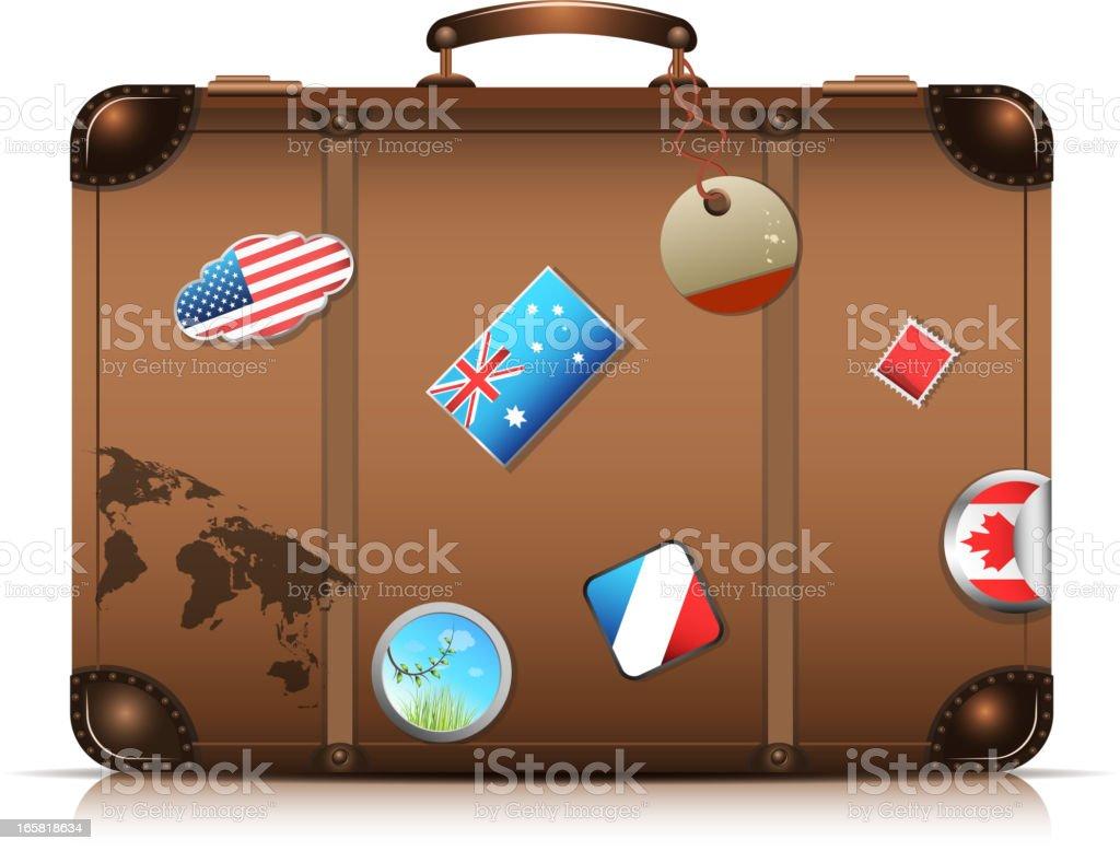 It's travel time vector art illustration