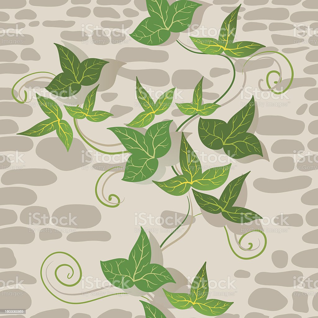 Ivy And Wall Pattern. royalty-free stock vector art