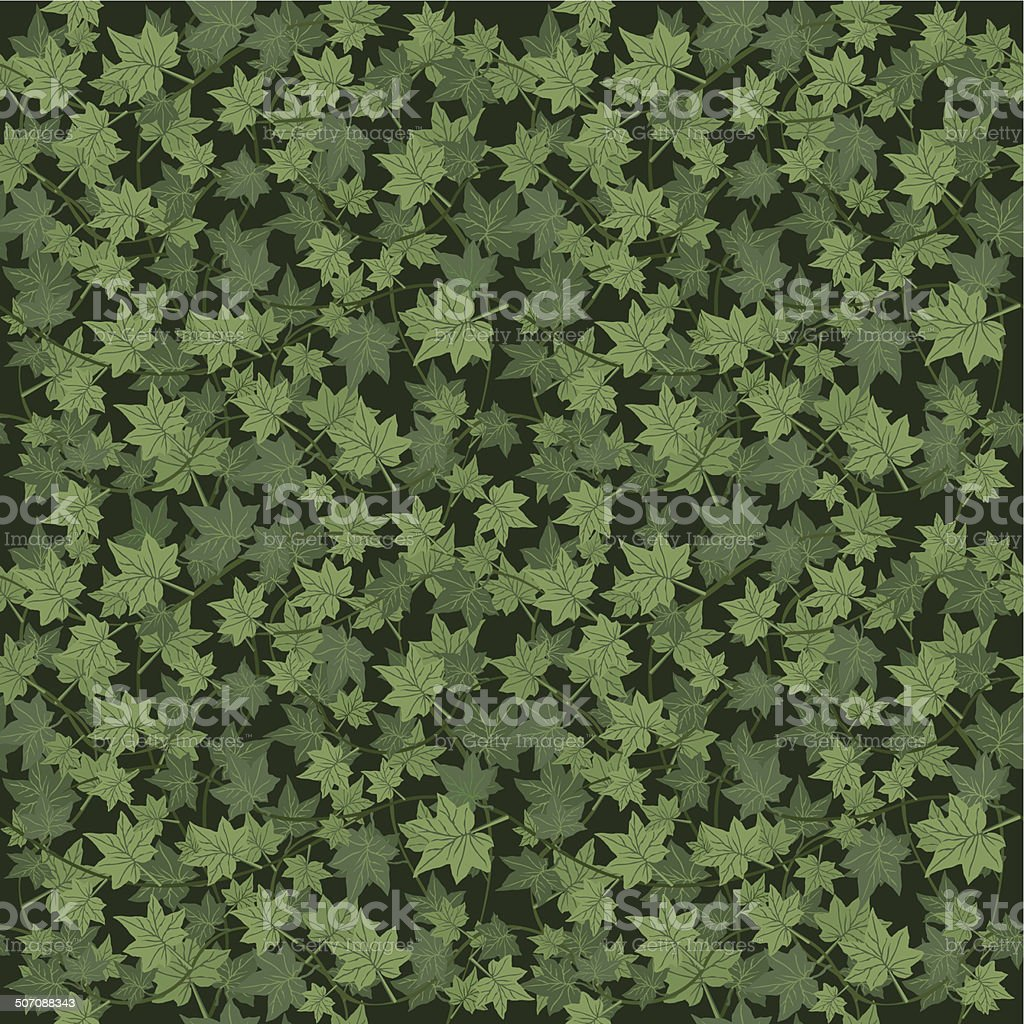 ivy seamless vector repeat pattern vector art illustration