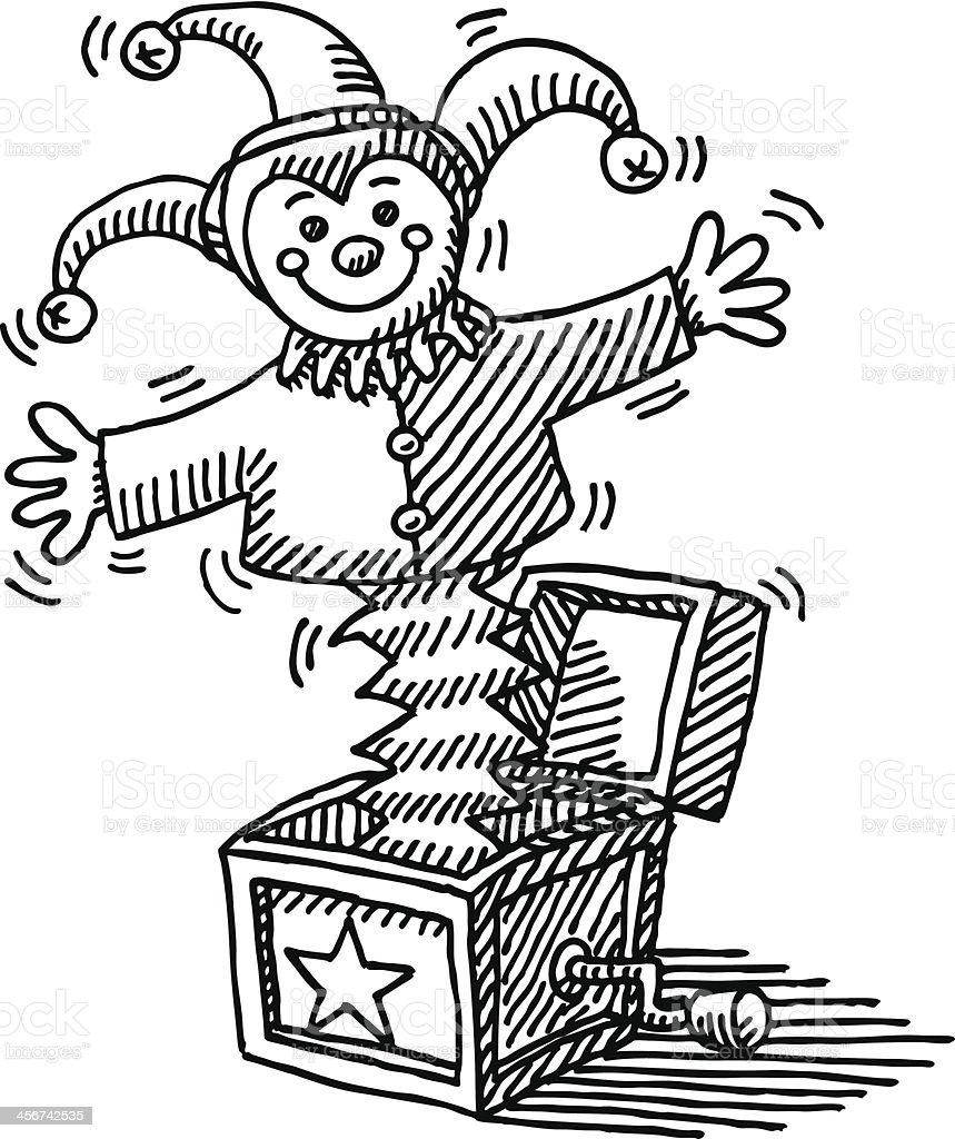 jack in the box jouet dessin stock vecteur libres de droits libre de droits