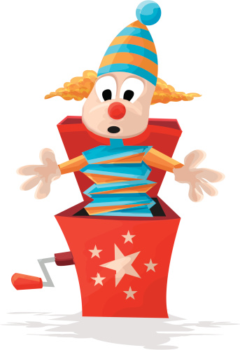 Clown Box Clip Art, Vector Images & Illustrations - iStock