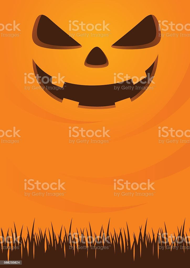 Jack Lantern Halloween Background vector art illustration