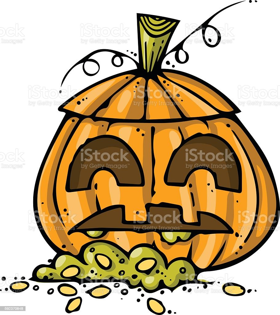 Jack O' Lantern Doodle vector art illustration