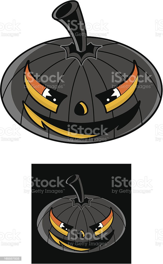 Jack 'O' Lantern Pumpkin Graphic Icon royalty-free stock vector art