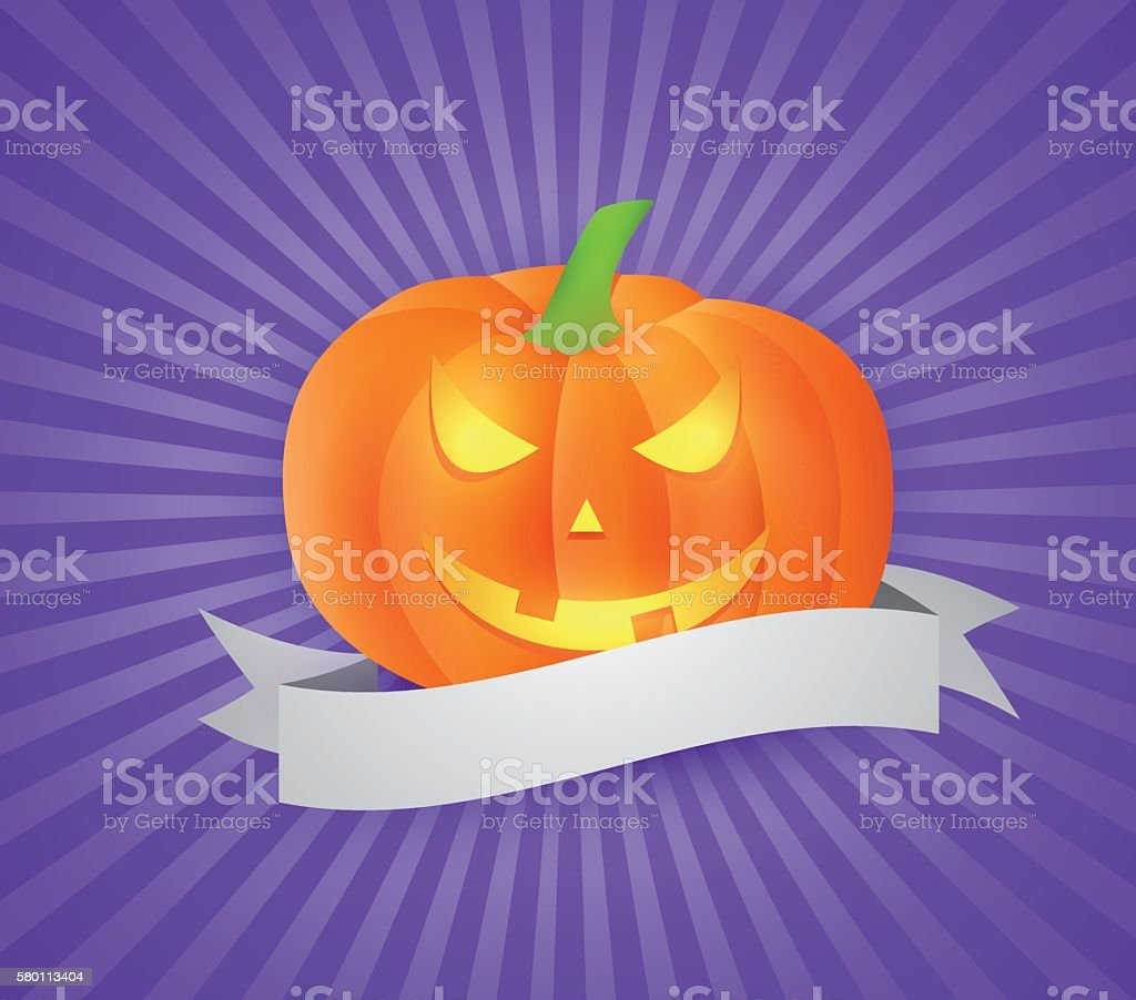 Jack O Lantern vector art illustration