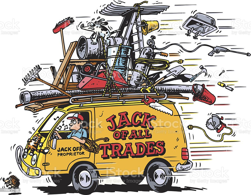 Jack Of All Trades vector art illustration