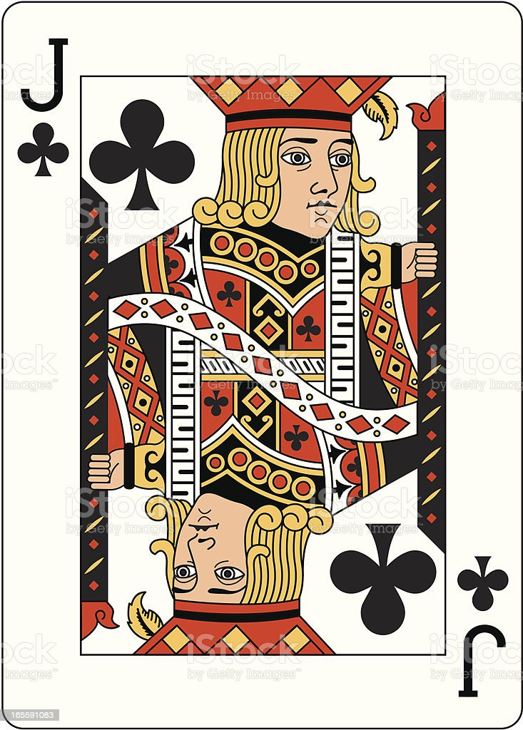 Jack of Clubs Two playing card royalty-free stock vector art