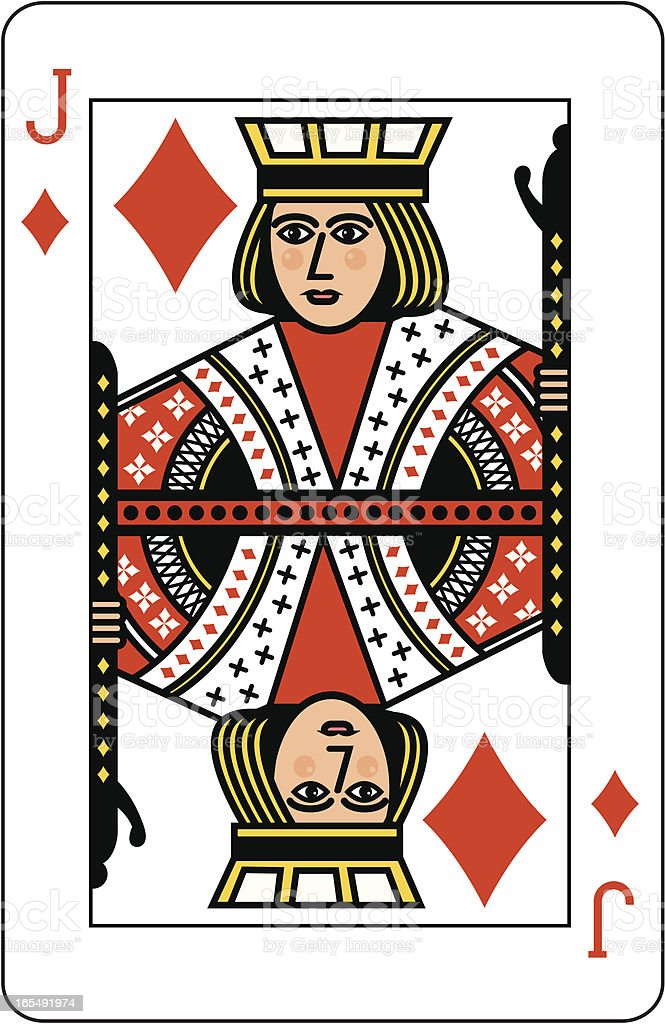 Jack of Diamonds vector art illustration