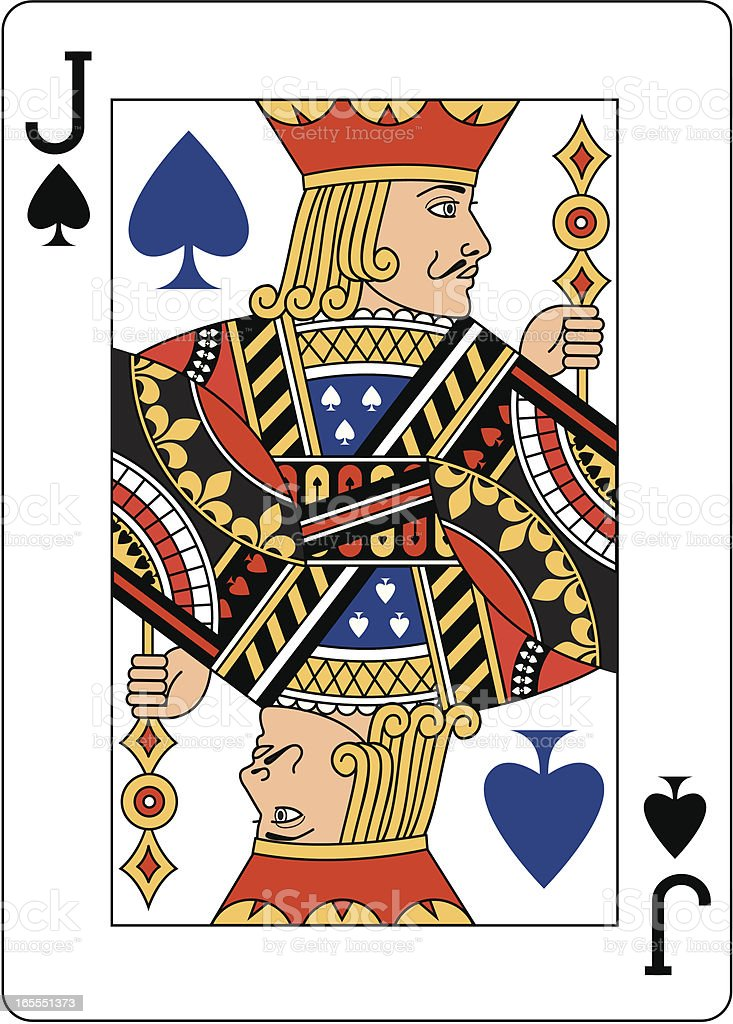 Jack of Spades Blue royalty-free stock vector art
