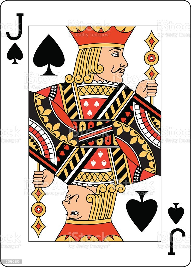 Jack of Spades Two playing card vector art illustration