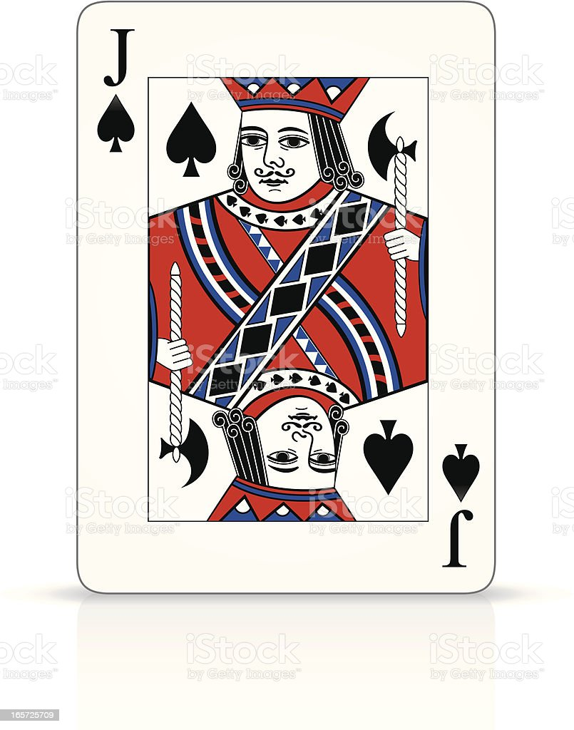 Jack of Spades royalty-free stock vector art