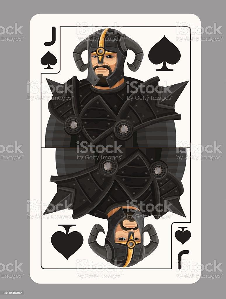 Джек spades игральной карты векторная иллюстрация