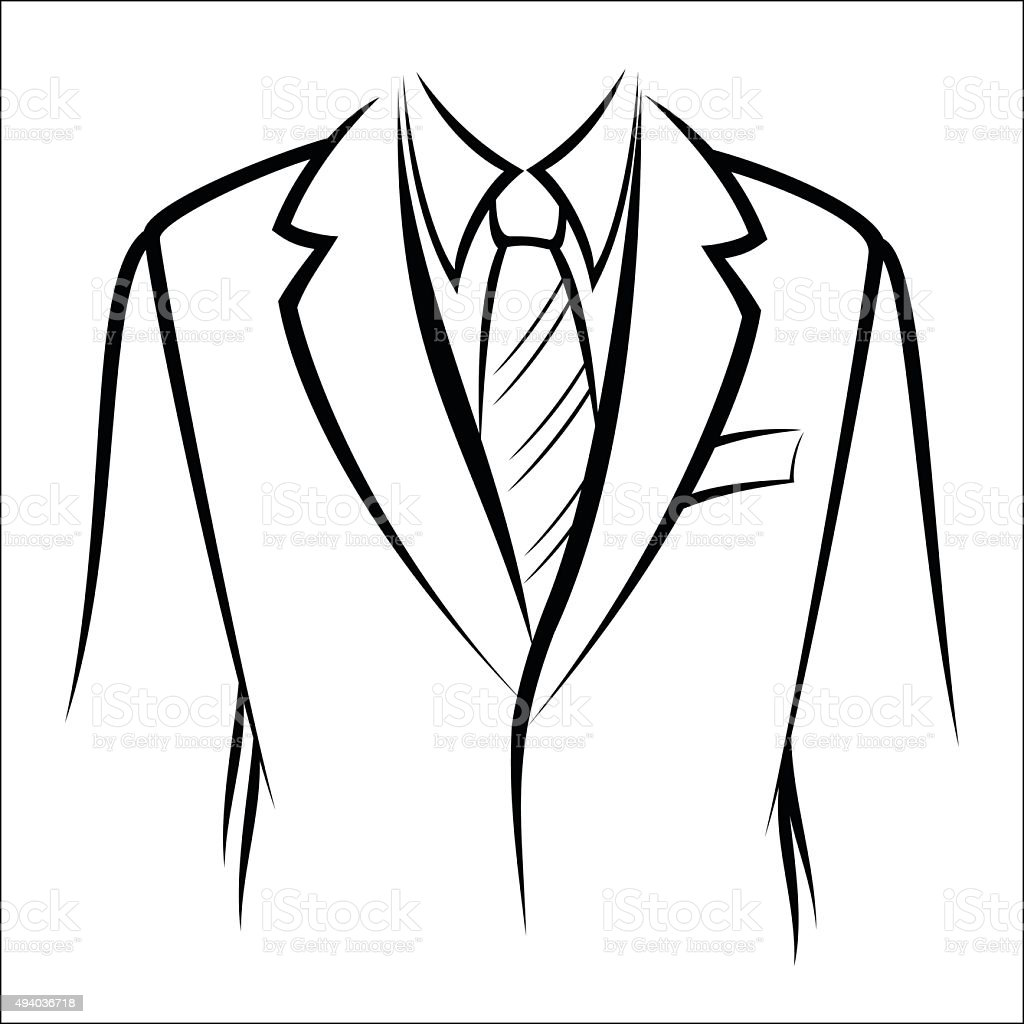 Jacket and tie royalty-free stock vector art