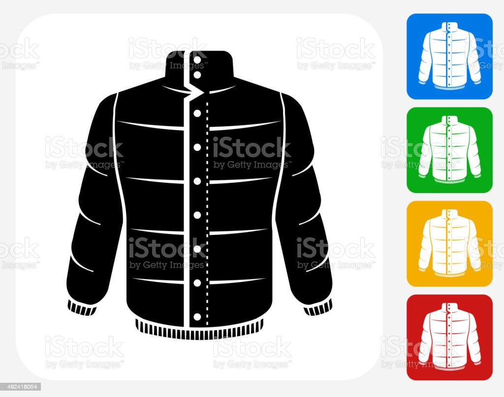 Jacket Icon Flat Graphic Design vector art illustration