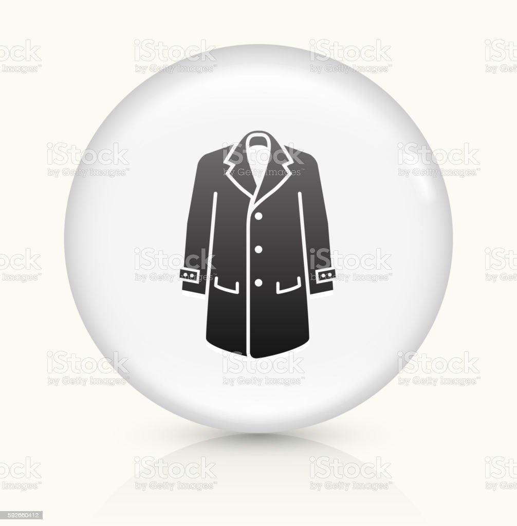 Jacket icon on white round vector button vector art illustration