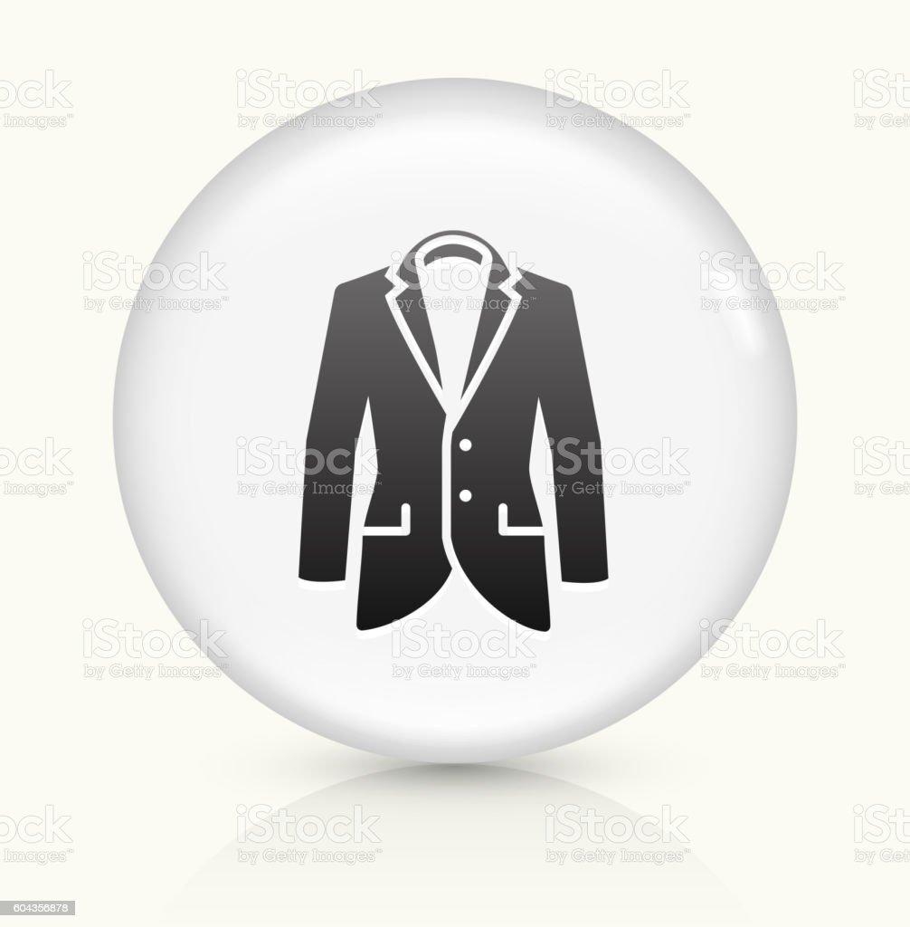 Jacket icon on white round vector button vector art illustration