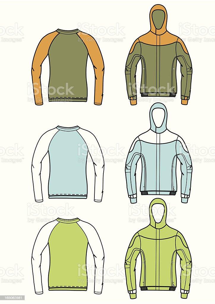 jacket longsleeve t-shirt royalty-free stock vector art