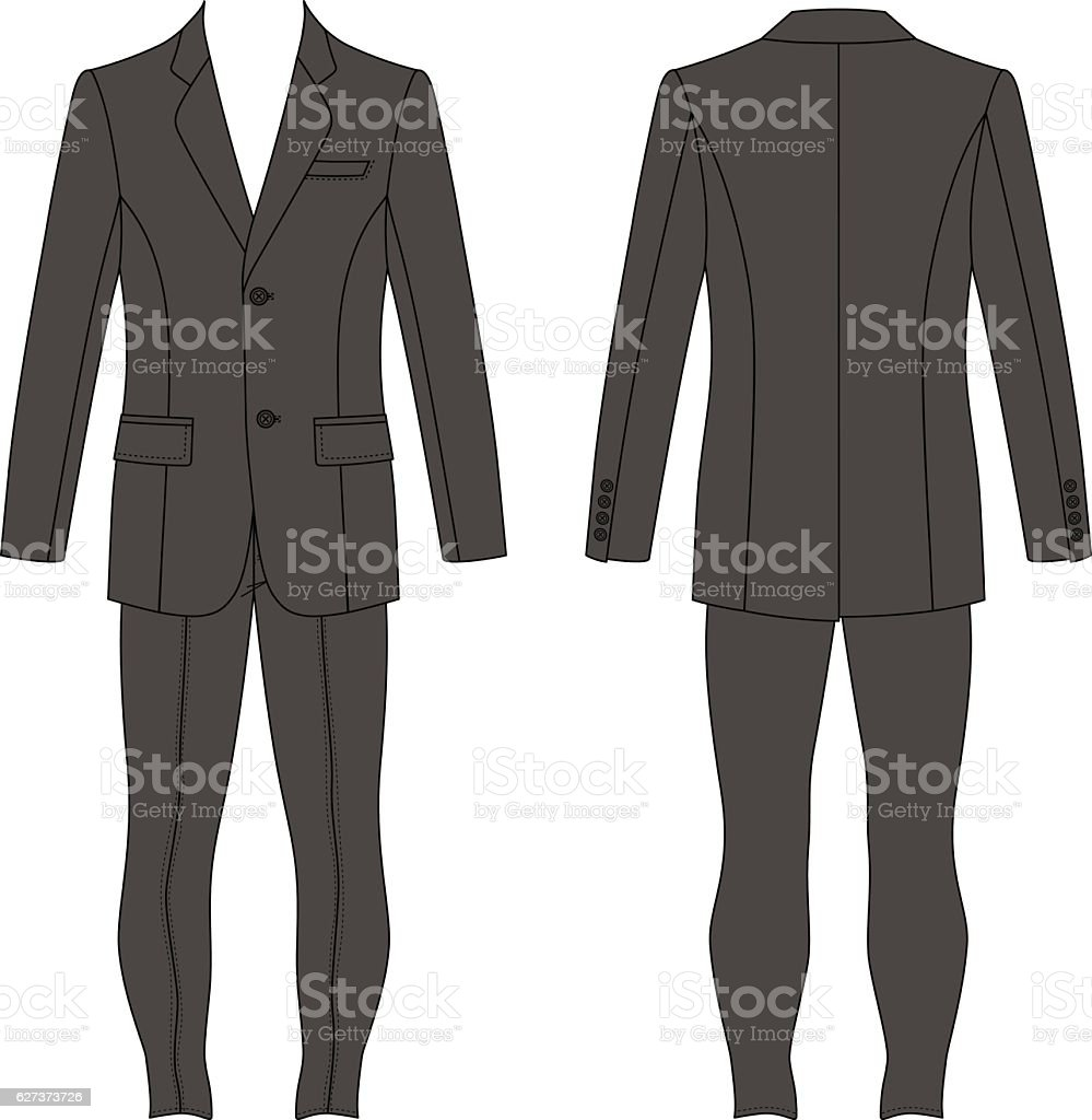 Jacket Skinny Jeans stock vector art 627373726   iStock