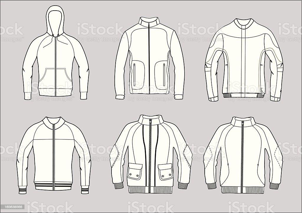 jackets vector art illustration