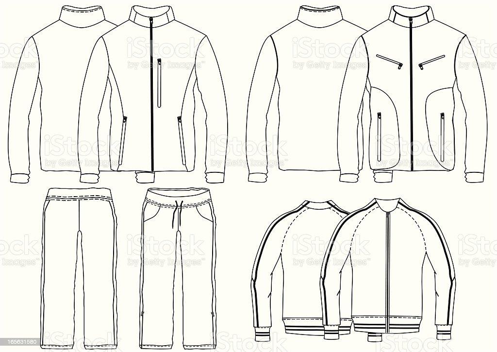 jacket/tracksuit vector art illustration