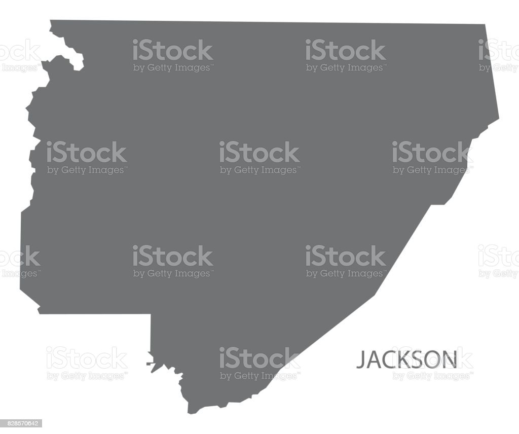 Alabama jackson county section - Jackson County Map Of Alabama Usa Grey Illustration Silhouette Royalty Free Stock Vector Art