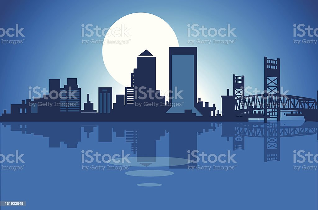 Jacksonville Skyline vector art illustration