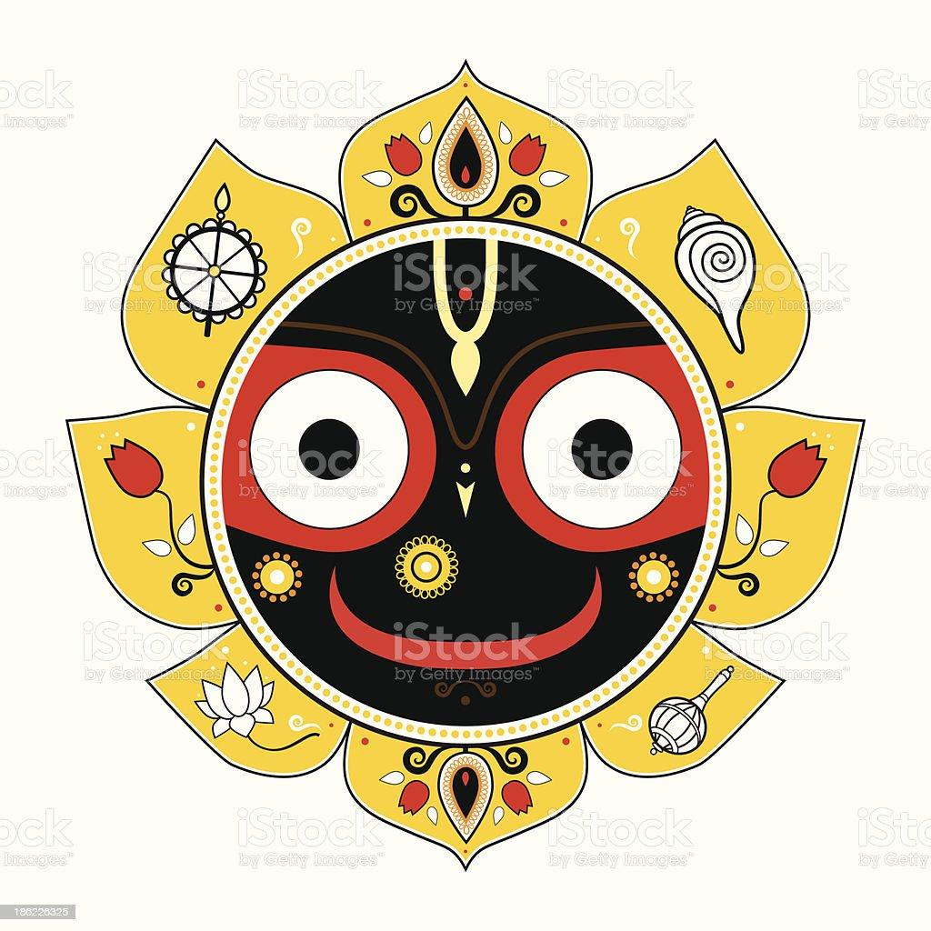 Jagannath. Indian God of the Universe. royalty-free stock vector art