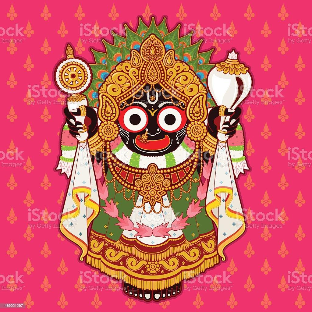 Jagannath (Hindu) , Lord of the Universe vector art illustration