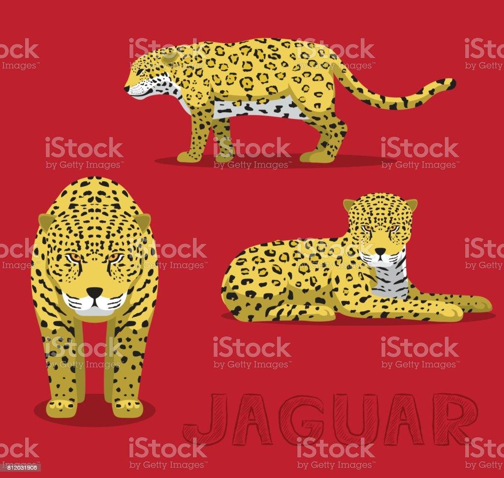 Jaguar Cartoon Vector Illustration vector art illustration