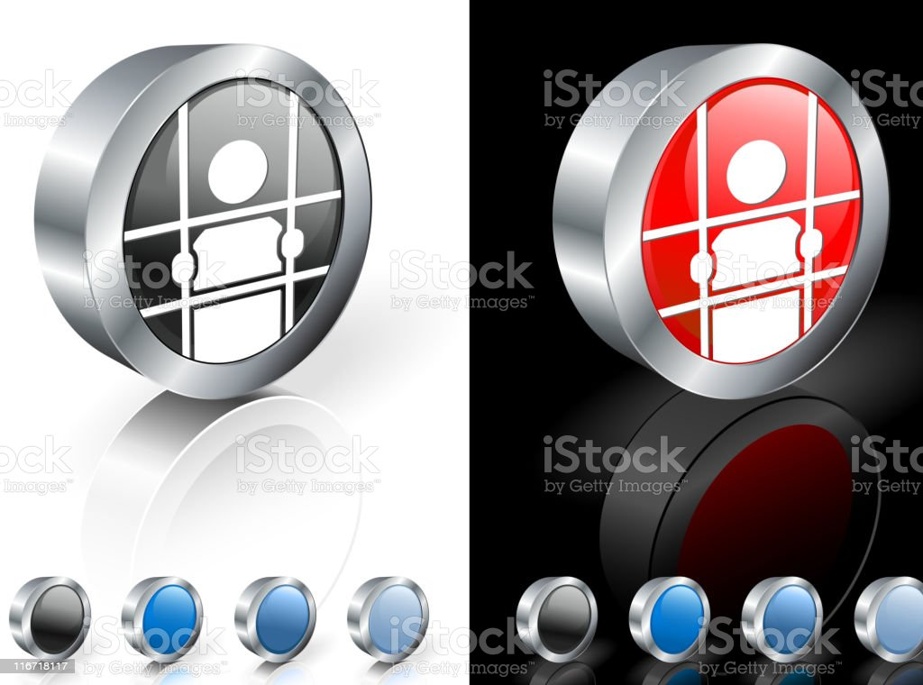 jail 3D royalty free vector art vector art illustration