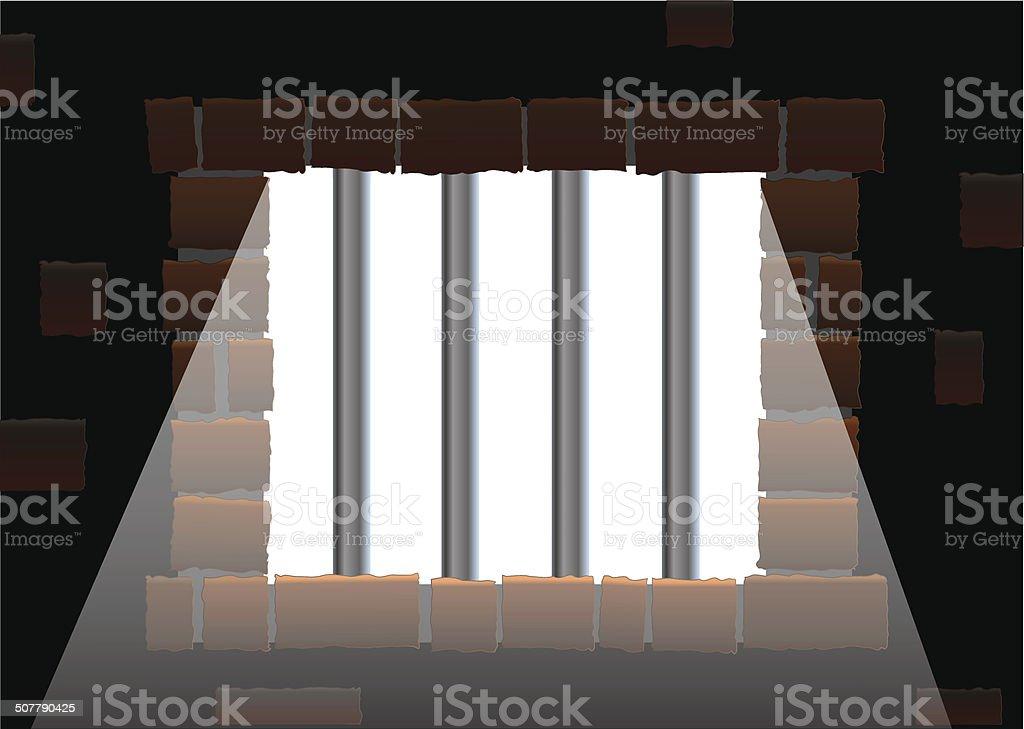Jail Bars Light vector art illustration