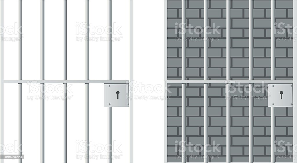 Jail cells in prison illustration vector art illustration